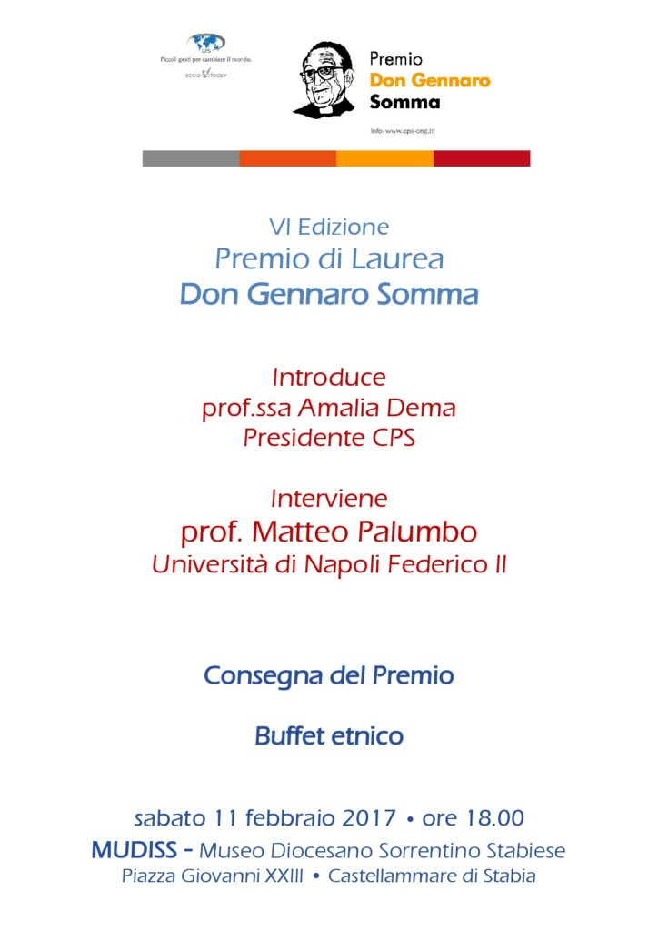 Consegna Premio di Laurea Don Gennaro Somma
