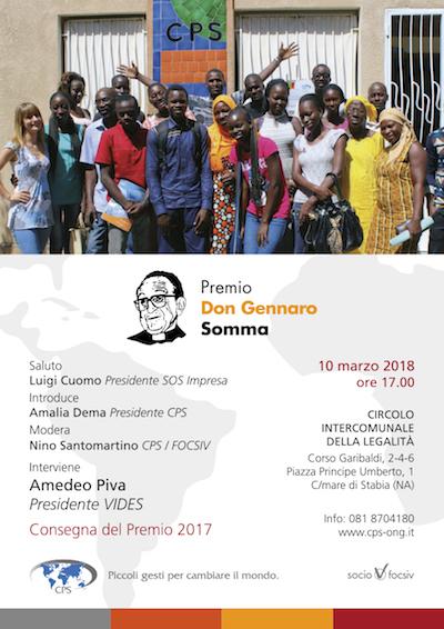 Consegna Premio Don Gennaro Somma 2017